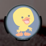 Cute Smiling Cartoon Duckling LED Power Decal LED Car Window Decal
