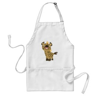 Cute Smiling Cartoon Hyena Apron