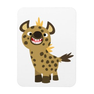 Cute Smiling Cartoon Hyena Flexible Magnet