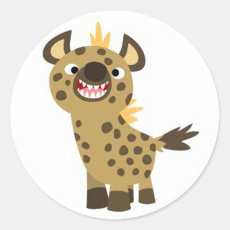 Cute Smiling Cartoon Hyena Sticker