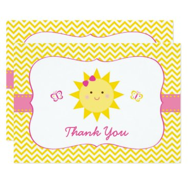 Cute Sunshine Birthday Thank You Card