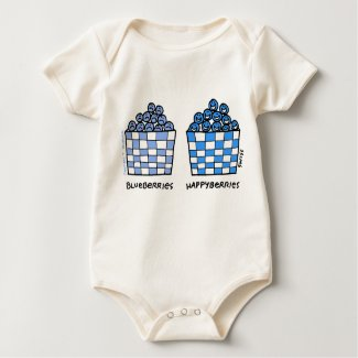 Cute Sweet & Funny Blueberries Cartoon Baby shirt