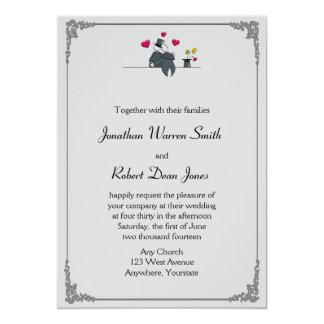 Cute Wedding Invitation Collection Free Vector