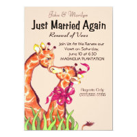 Cute Wedding Renewal Vows Invitations