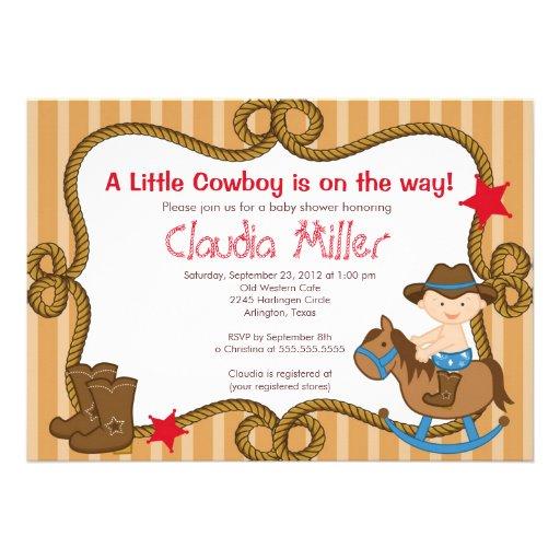 Cowboy Baby Shower Invitations
