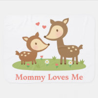 Cute Woodland Deer Mother and Child For Babies Swaddle Blanket