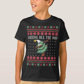 Dabbing All the Way Christmas Tree Ugly Xmas T-Shirt