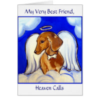 Dachshund Angel Card