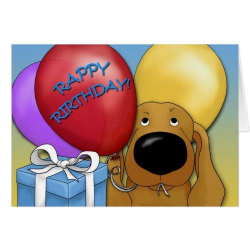 Dachshund Birthday Card