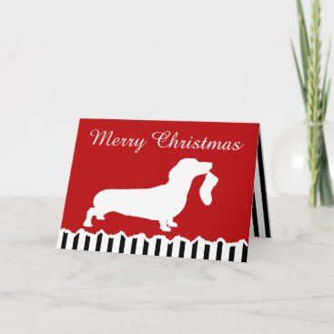 Dachshund Christmas Holiday Card