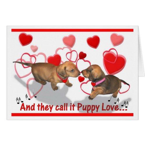 Dachshund Puppy Love Greeting Card