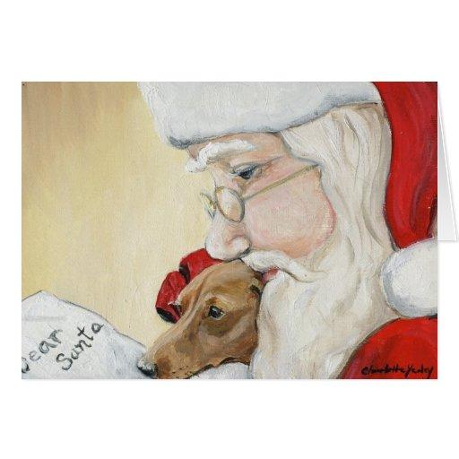 Dachshund Request For Santa Art Christmas Card Zazzle