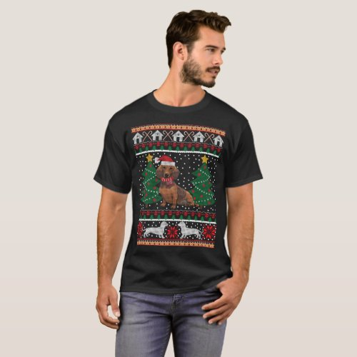 Dachshund Ugly Christmas Sweater Funny Dog T-Shirt