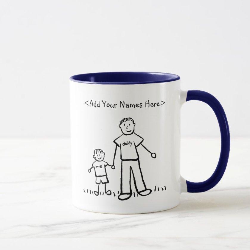 Daddy & Me Little Boy Mug (Custom Names)