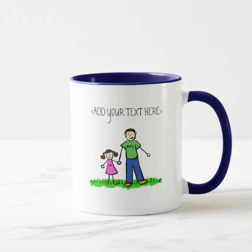 Daddy's Little Girl Mug (Brunette)