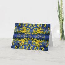 Daffodil Spring Valentine cards