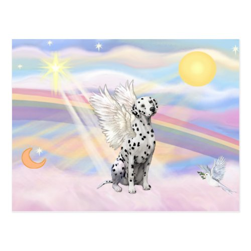 Dalmatian Angel Postcard