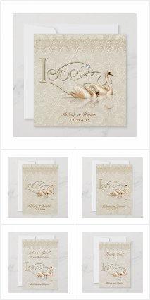 Damask Ivory Swan Elegance