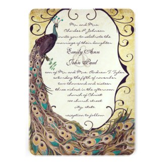 Damask Peacock Elegance Eggplant Gold and Aqua