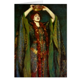 Dame Ellen Terry by John Singer Sargent Greeting Card