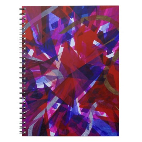 Dance of Life - Abstract Whimsical Light Notebook