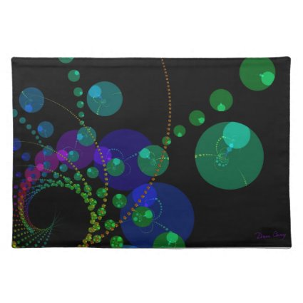 Dance of the Spheres II – Cosmic Violet & Teal Place Mats