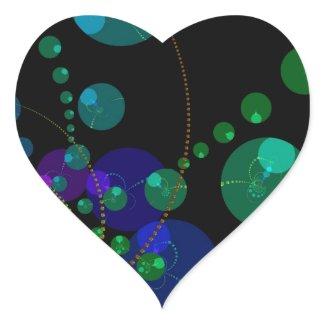 Dance of the Spheres II – Cosmic Violet & Teal sticker