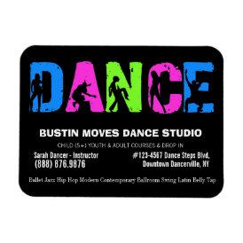 Dance Studio Dancing Lessons Magnet