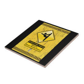 Dance Zone Ahead-Watch for Dancers Busting Moves! Tile