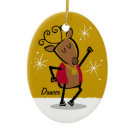 Dancer Reindeer Custom Ornament