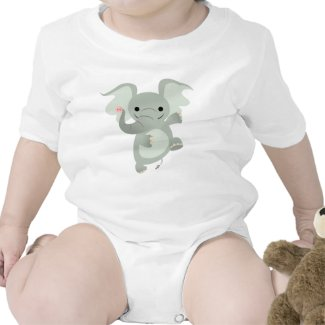 Dancing Cartoon Elephant Baby Apparel shirt