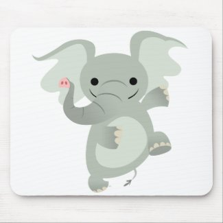 Dancing Cartoon Elephant Mousepad mousepad