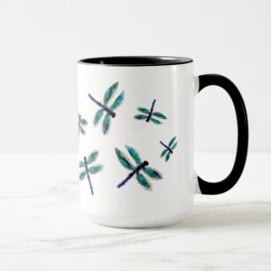 Dancing Dragonfly Art Mug