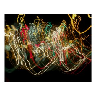 Dancing Lights Poster print