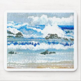 Dancing Waves on the Rocks CricketDiane Ocean A Mousepad