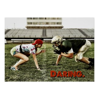 Daring Poster - Girl vs. Linebacker