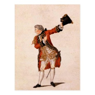 David Garrick as Benedict - Much Ado About Nothing Postcard