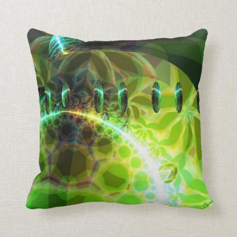 Dawn of Time – Lime & Gold Emerge Throw Pillow