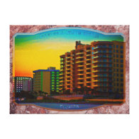 Daytona Beach Shores Coastal Resorts Framed Art Canvas Prints