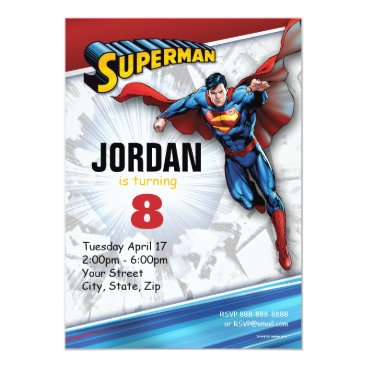 DC Comics | Superman - Birthday Invitation