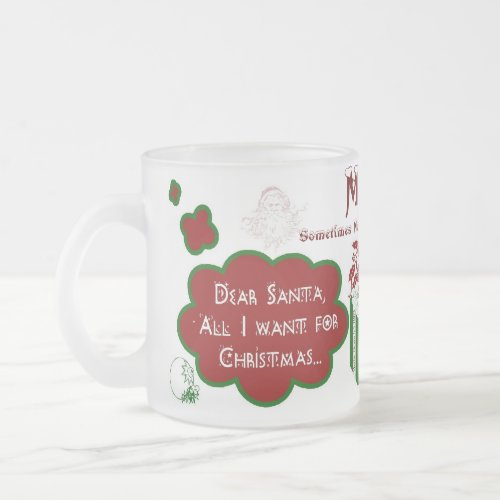 Dear Santa Frosted Mug - Personalize Name/Message mug