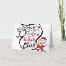 Dear Santa Vegan Wish card