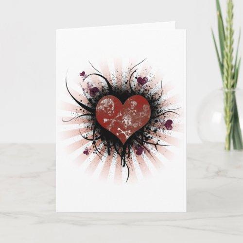 Death heart card
