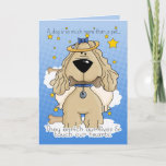 Sweet Cartoon Angel Dog Sympathy Card