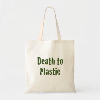 Death to Plastic Budget Tote Bag