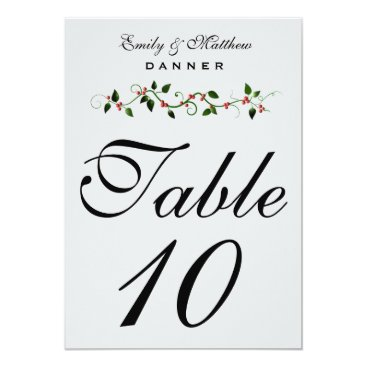 December Holiday Wedding Table Number 5X7