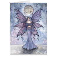 December in Blue Fairy Card by Molly Harrison
