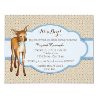 Deer Baby Shower Card