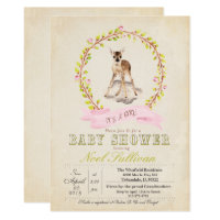 Deer Baby Shower Girl Invitation