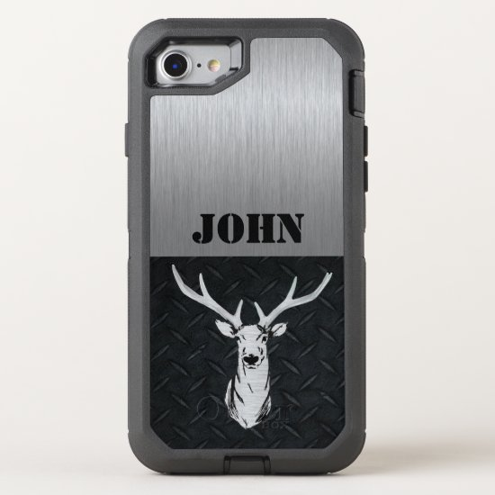 Deer Hunting Sports Men Rugged Buck Name OtterBox Defender iPhone 8/7 Case